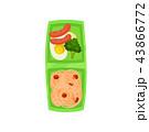 食 料理 食べ物のイラスト 43866772