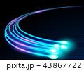 視覚 オプティカル ファイバーのイラスト 43867722