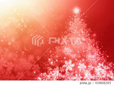 クリスマスイルツリーと雪の結晶 43868265