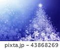クリスマス クリスマスツリー キラキラのイラスト 43868269