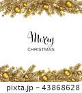 クリスマス バックグラウンド 背景のイラスト 43868628