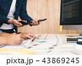 職業 デザイナー ノートパソコンの写真 43869245