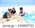 海水浴 ビーチ 友達の写真 43869732