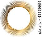 丸 渦 渦巻き 螺旋 金 筆文字 43869994