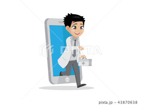 Online doctor health care in smartphones. 43870638