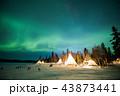 イエローナイフ オーロラ 夜景の写真 43873441