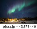 イエローナイフ オーロラ 夜景の写真 43873449