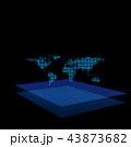 ネットワーク オンライン サイバーのイラスト 43873682