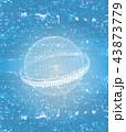 オンライン グローバル サイバーのイラスト 43873779