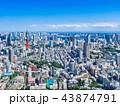 東京 都市風景 東京タワーの写真 43874791