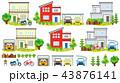 一軒家の風景(ガレージと二輪車) 43876141