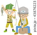魚釣り 釣り 魚のイラスト 43876223