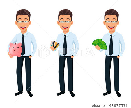 Handsome businessman in office style clothes 43877531