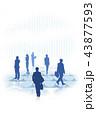 CG ビジネス ビジネスマンのイラスト 43877593