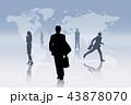 世界地図 グローバル ビジネスのイラスト 43878070