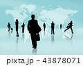 世界地図 グローバル ビジネスのイラスト 43878071