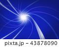 光 光線 模様のイラスト 43878090