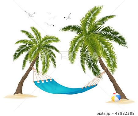 Realistic Hammock Illustration 43882288