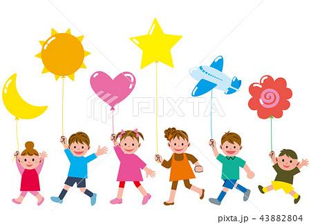風船と子供 43882804