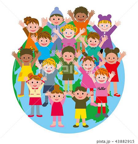 子供 地球 グローバル 43882915