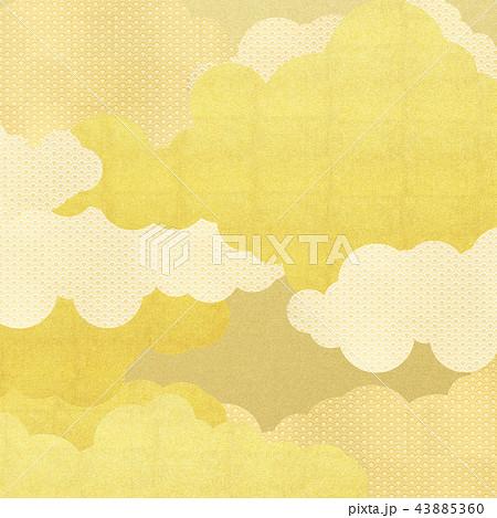 和-背景-金箔-雲-霞-波 43885360