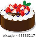 クリスマスケーキ 43886217