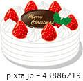 クリスマスケーキ 43886219