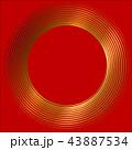 丸 渦 渦巻き 螺旋 金 筆文字 43887534