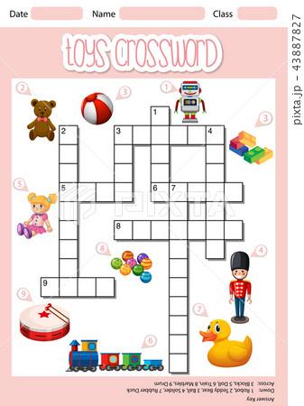 toys crossword sheet templateのイラスト素材 43887827 pixta