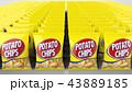ポテトチップス 大量 正面 43889185
