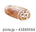 シュトレン クリスマス ケーキ 水彩 イラスト 43889564