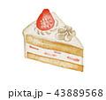 苺ショート バースデー&クリスマス ケーキ 43889568