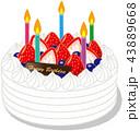 誕生日 ケーキ 43889668