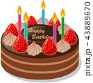 誕生日 ケーキ 43889670