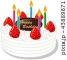 誕生日 ケーキ 43889671