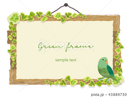 小鳥の看板フレーム 43889730