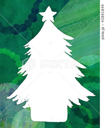 背景素材 水彩テクスチャー クリスマス 43891849