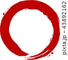 丸 円 赤のイラスト 43892162