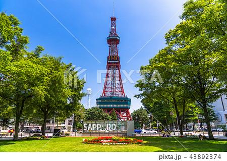 《北海道》札幌テレビ塔と大通公園 43892374