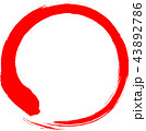丸 円 赤のイラスト 43892786