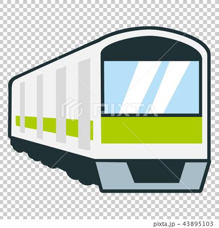 用於每日通勤的火車的例證 43895103
