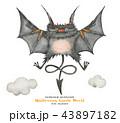 Halloween watercor the little devil free fly 43897182