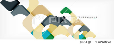 Geometric squares abstract banner. Vector illustration for business brochure or flyer, presentation 43898058
