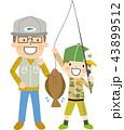魚釣り 釣り 魚のイラスト 43899512