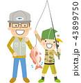 魚釣り 釣り 魚のイラスト 43899750