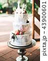 ケーキ ウエディング デザートの写真 43900601
