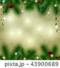 クリスマス 背景 オーナメントのイラスト 43900689