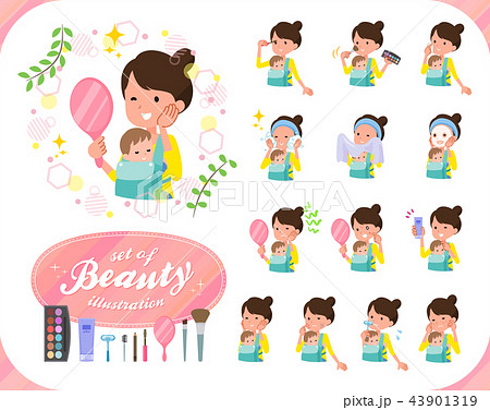 flat type Mother and baby_beauty 43901319