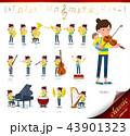 お母さん 赤ちゃん 楽器のイラスト 43901323