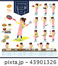 flat type Mother and baby_cooking 43901326